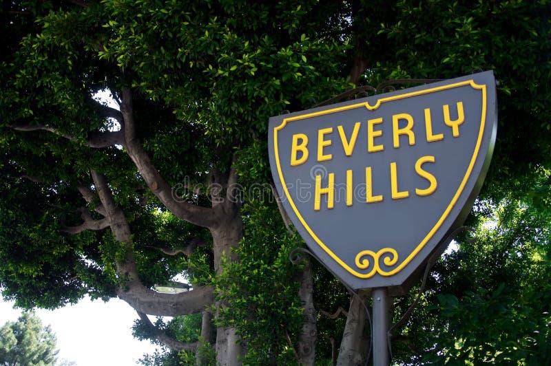 Sinal de Beverly Hills imagens de stock royalty free