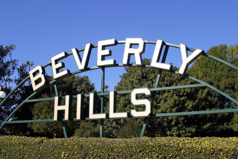 Sinal de Beverly Hills foto de stock royalty free