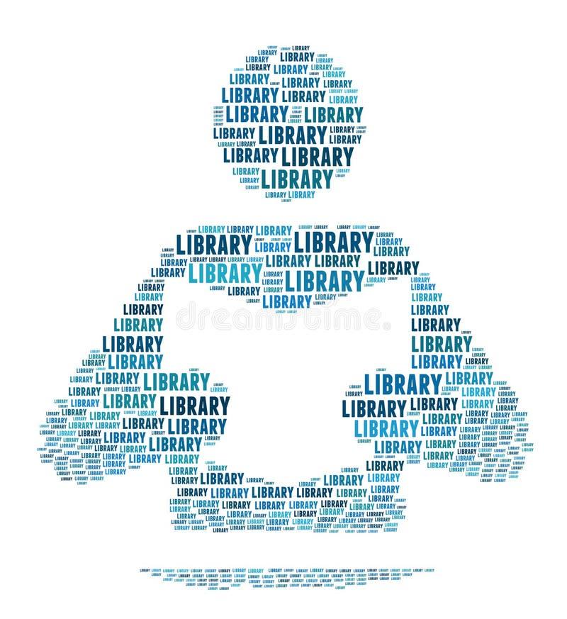 Sinal de biblioteca ilustração do vetor