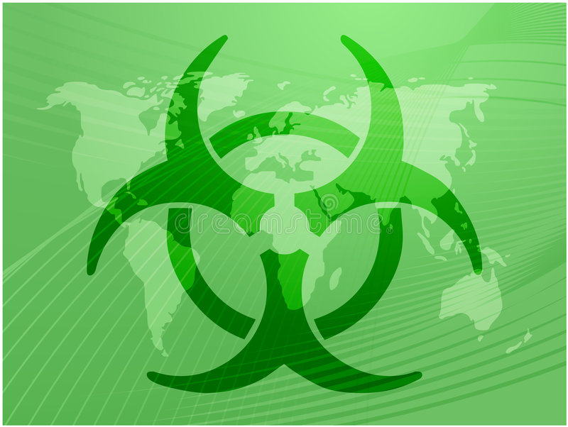Sinal de Biohazard ilustração royalty free