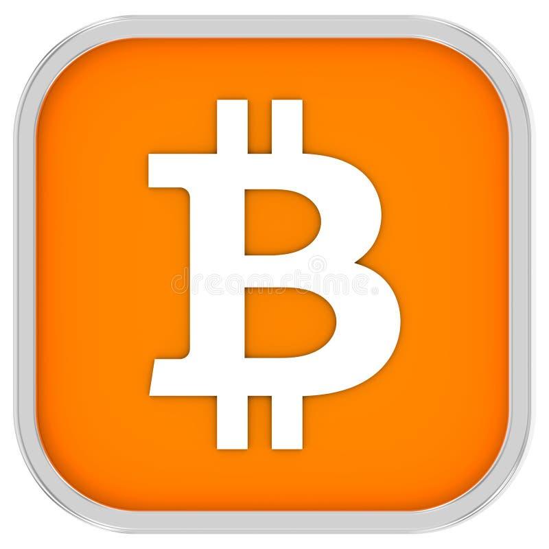 Sinal de Bitcoin imagem de stock
