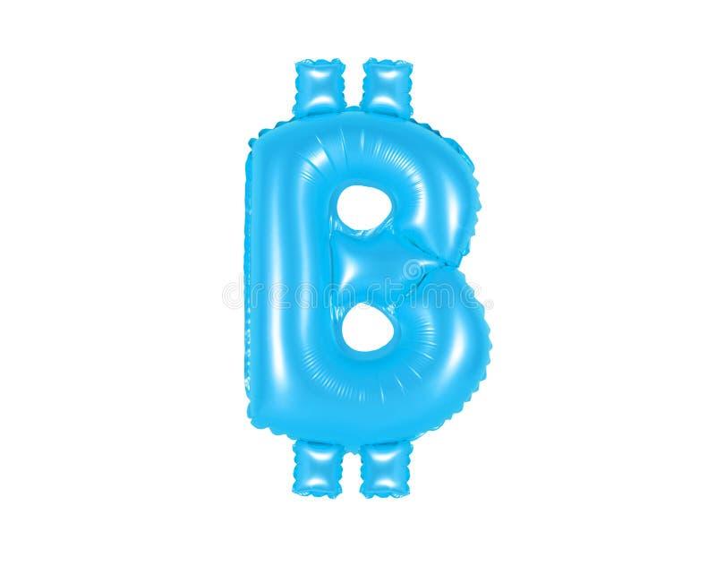 Sinal de Bitcoin, cor azul imagens de stock