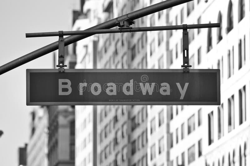 Sinal de Broadway foto de stock