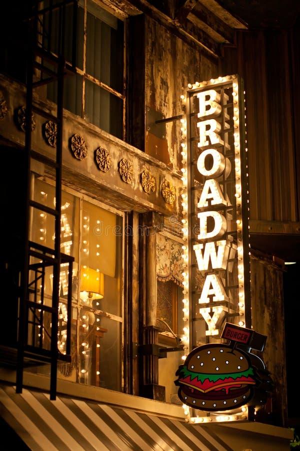 Sinal de Broadway fotografia de stock
