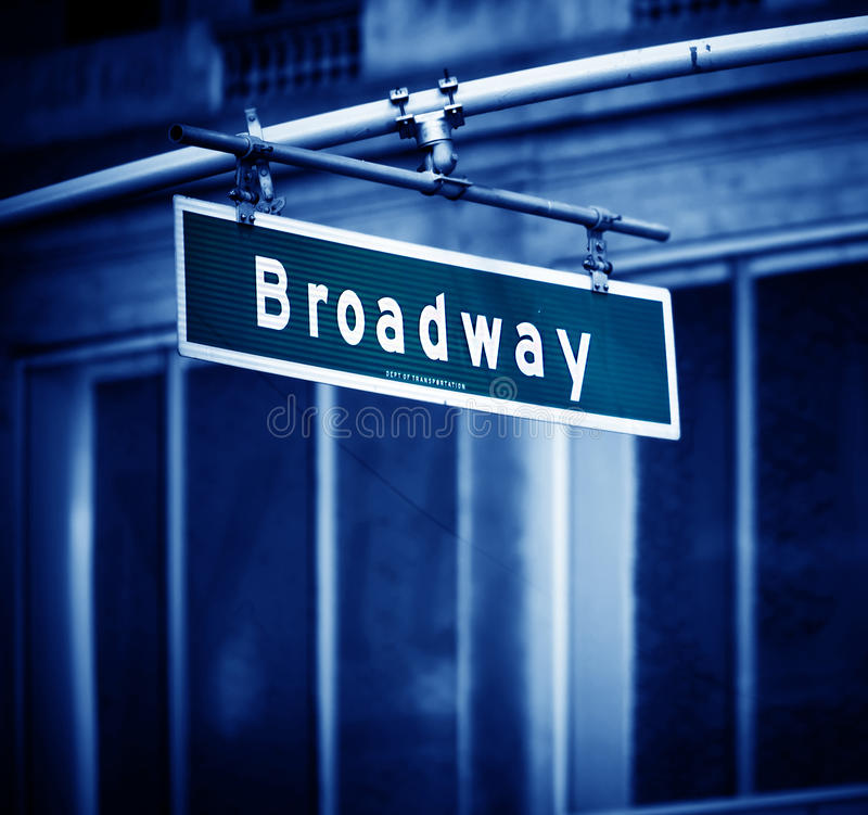 Sinal de Broadway fotos de stock royalty free
