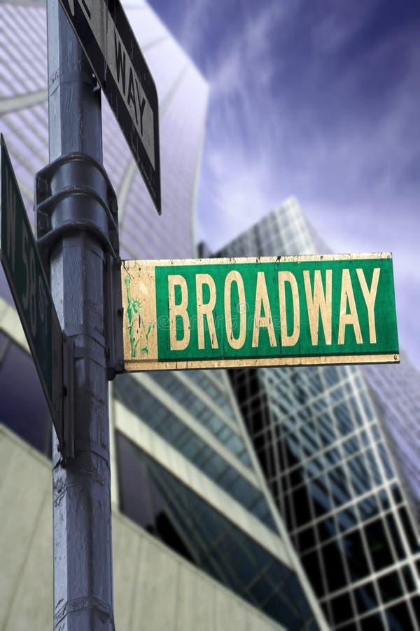Sinal de Broadway imagens de stock royalty free