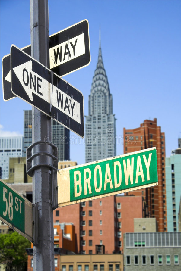Sinal de Broadway foto de stock royalty free