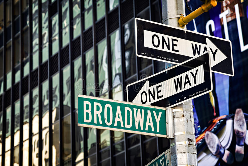 Sinal de Broadway imagem de stock royalty free