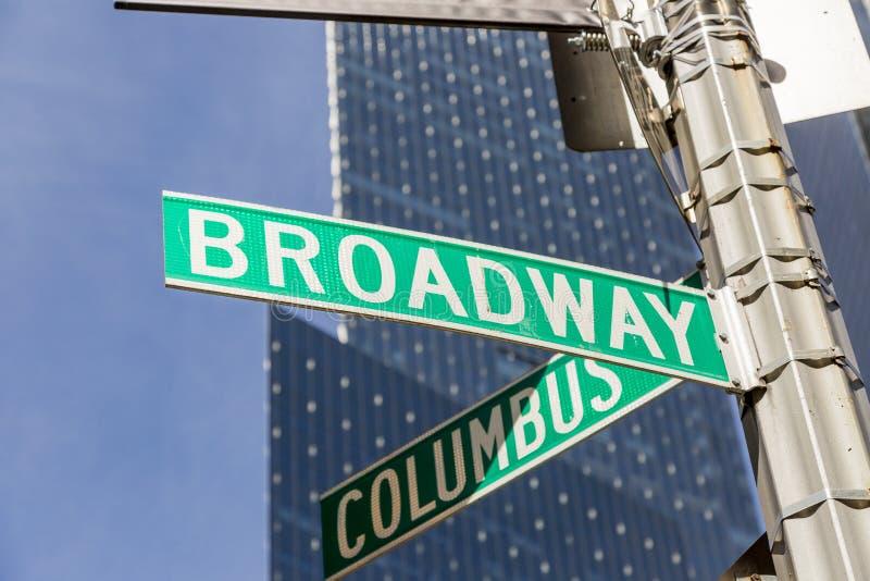 Sinal de Broadway fotografia de stock royalty free