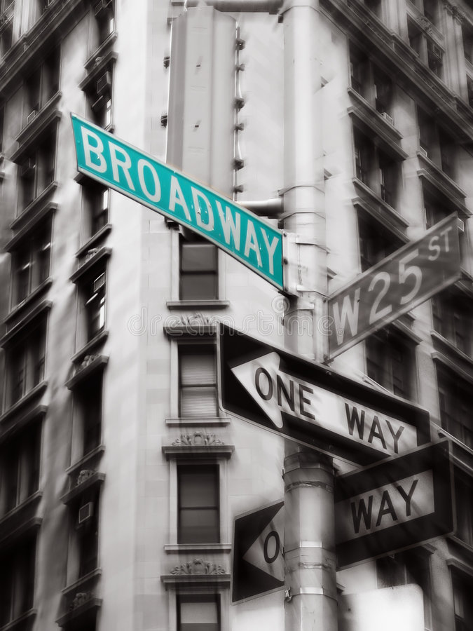 Sinal de Broadway foto de stock royalty free