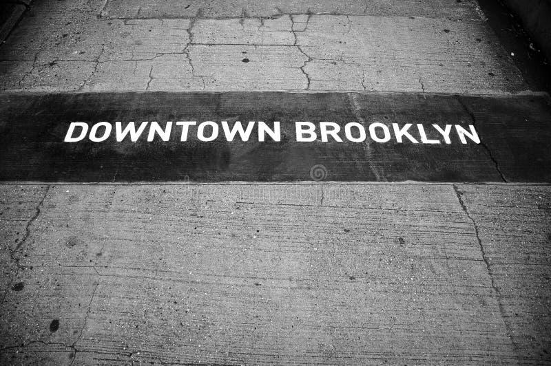 Sinal de Brooklyn fotos de stock