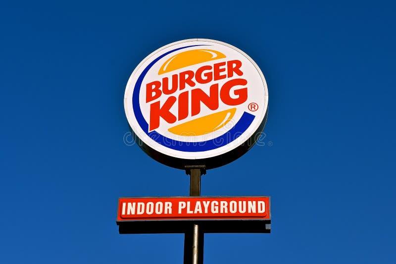 Sinal de Burger King fotos de stock
