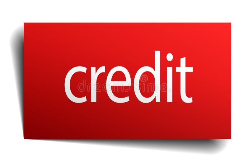 Sinal de crédito ilustração stock