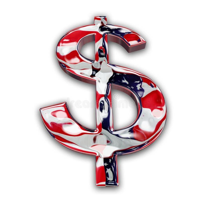 Sinal de dólar ilustração do vetor