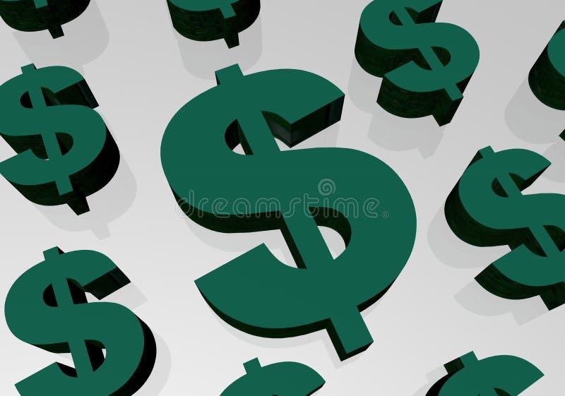 Download Sinal de dólar ilustração stock. Ilustração de sinal, renda - 114490