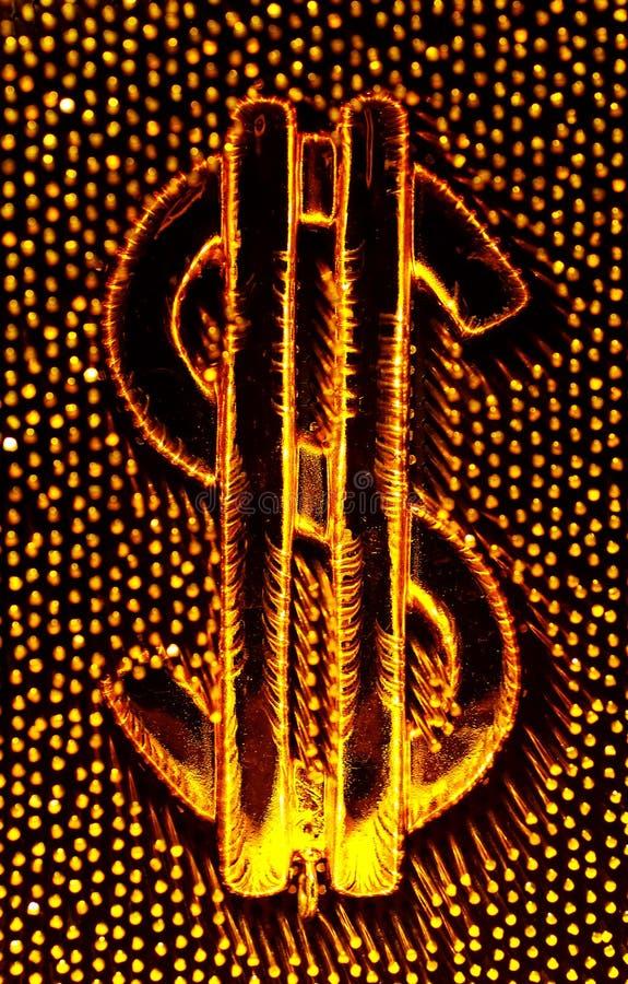 Sinal de dólar abstrato fotos de stock