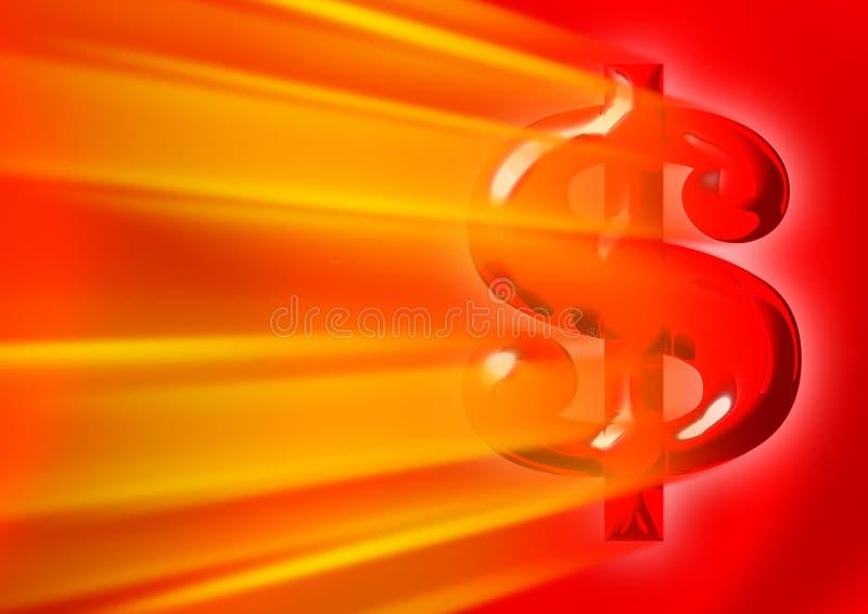 Sinal de dólar americano ilustração do vetor