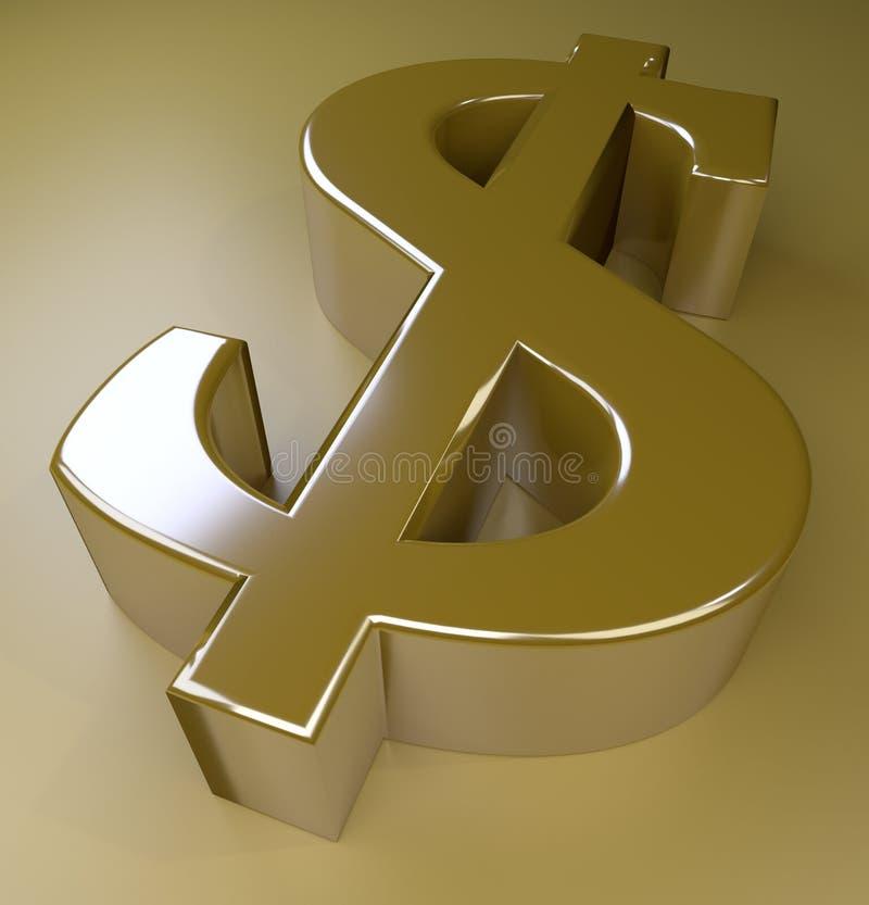 Sinal de dólar dourado imagens de stock royalty free