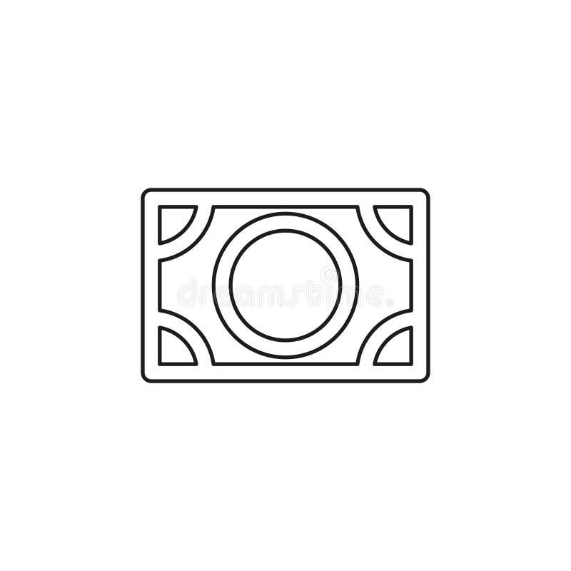 Sinal de d?lar do vetor, ?cone do d?lar do dinheiro ilustração stock