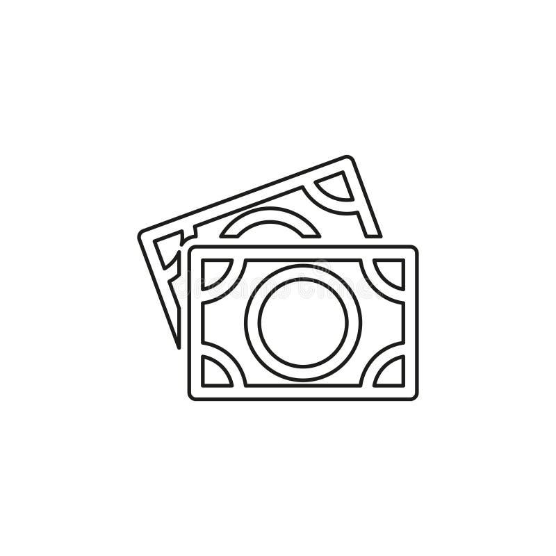 Sinal de d?lares do vetor, ?cone dos d?lares do dinheiro ilustração stock