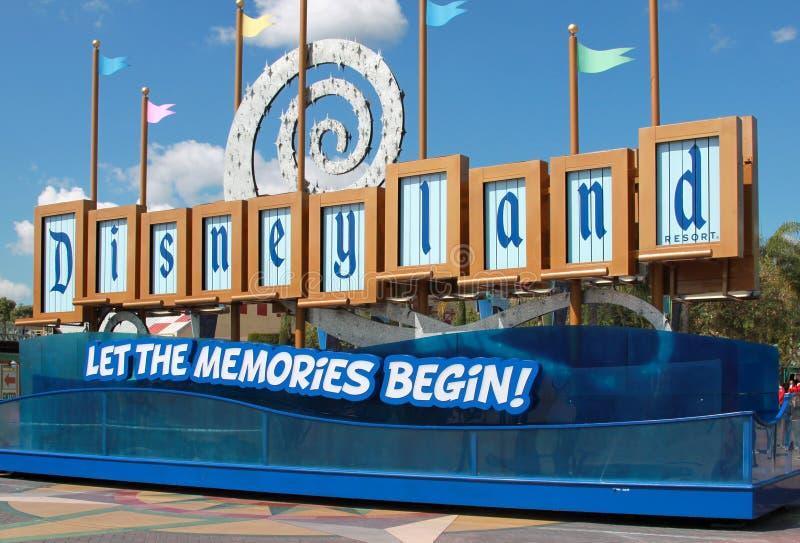 Sinal de Disneylâandia imagem de stock