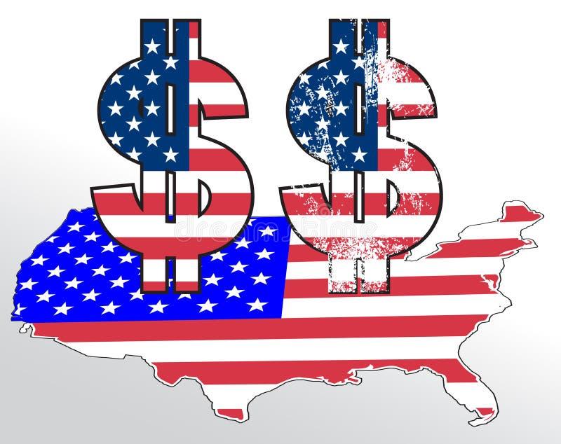 Sinal de Dolar ilustração stock