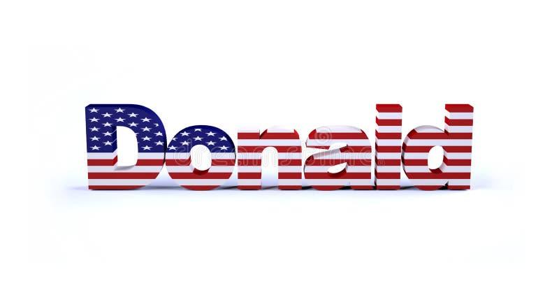 Sinal de Donald com bandeira americana ilustração royalty free