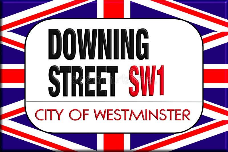 Sinal de Downing Street ilustração stock
