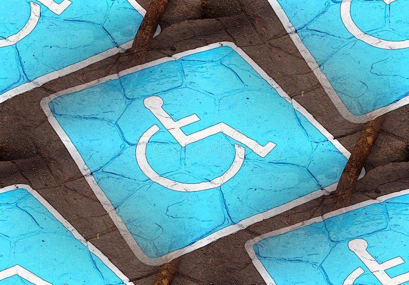 Sinal de estacionamento deficiente ou deficiente fotos de stock