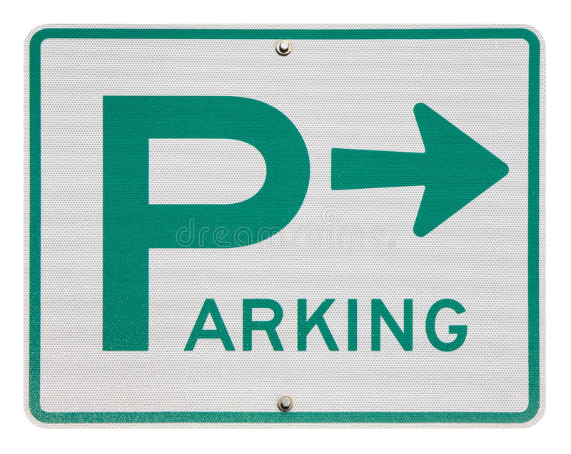 Sinal de estacionamento isolado fotos de stock royalty free