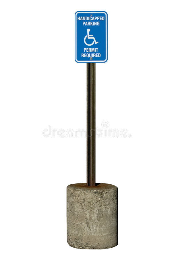 Sinal de estacionamento tido desvantagens imagens de stock royalty free