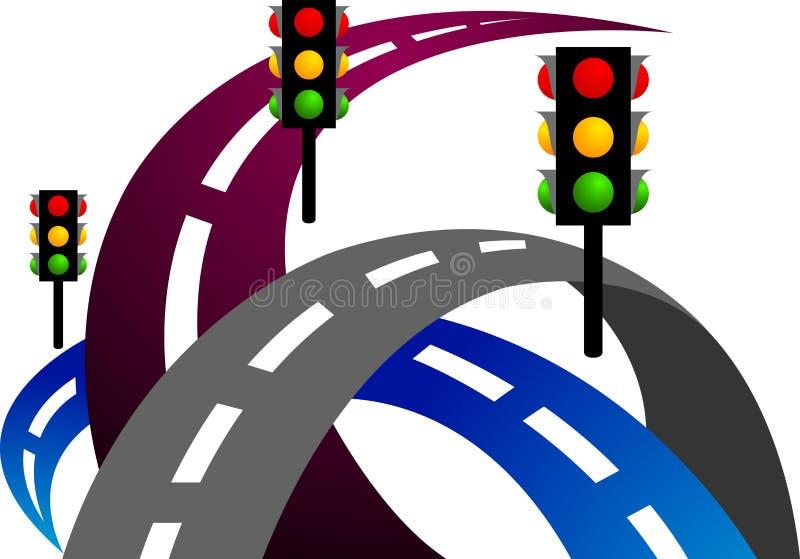 Sinal de estrada ilustração stock