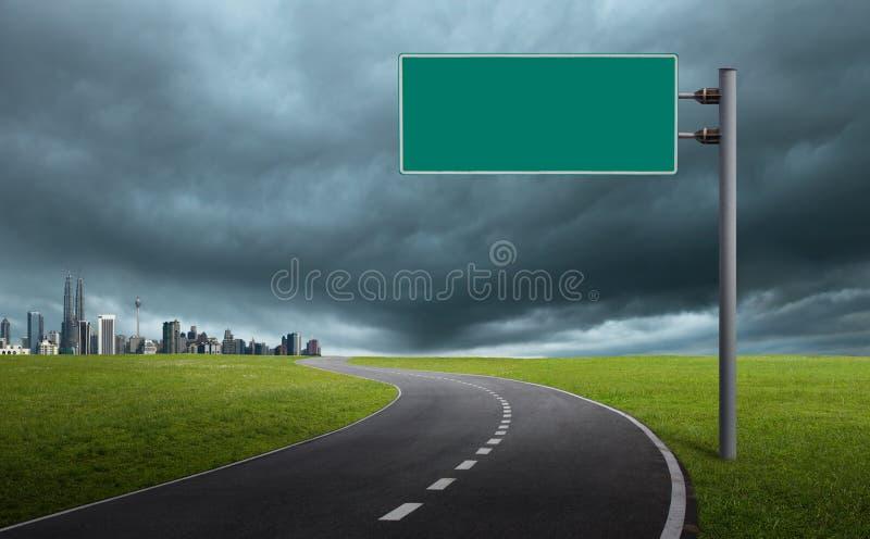 Sinal de estrada imagem de stock