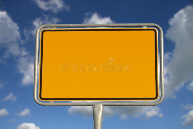 Sinal de estrada alemão foto de stock royalty free