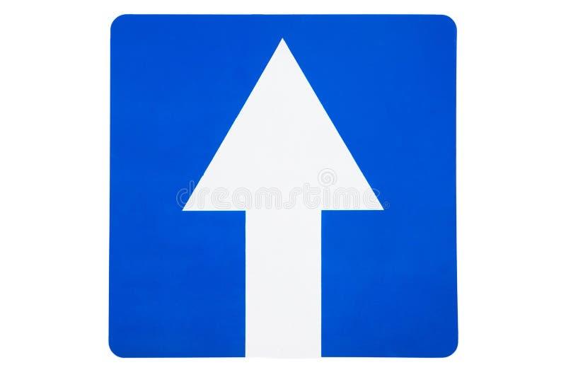 Sinal de estrada azul - movendo-se para a frente fotografia de stock royalty free