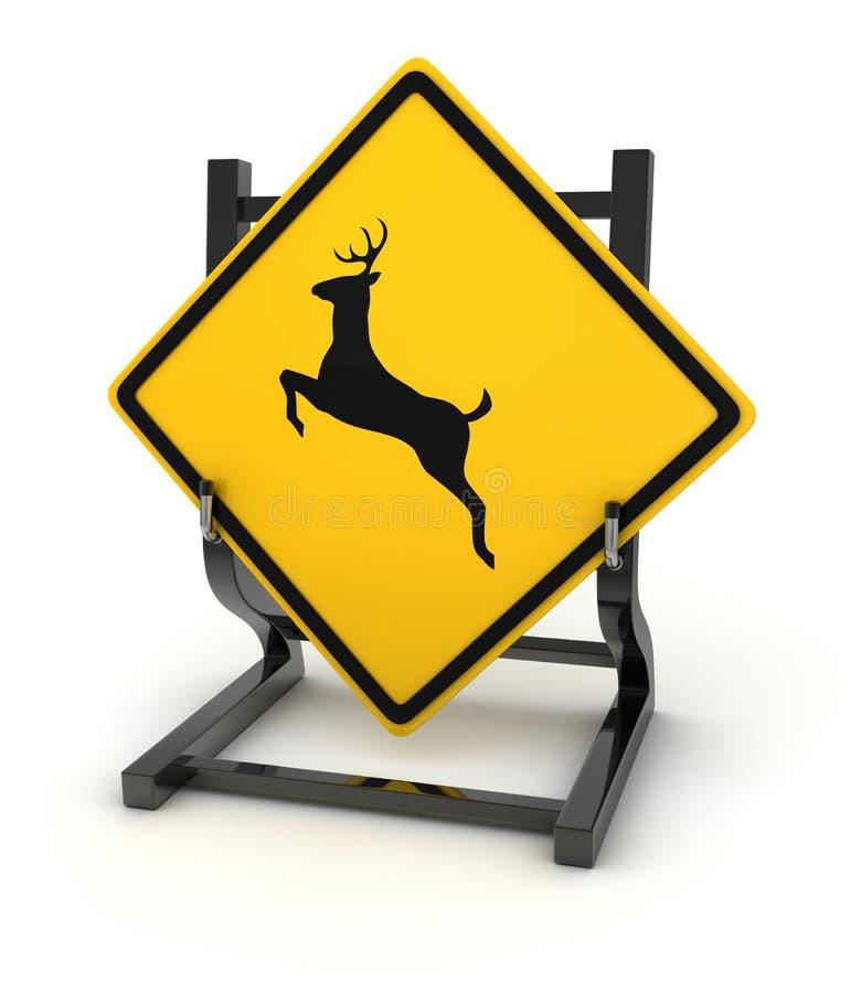 Sinal de estrada - cervo ilustração royalty free