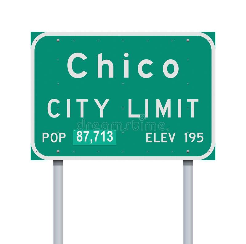 Sinal de estrada de Chico City Limit ilustração royalty free