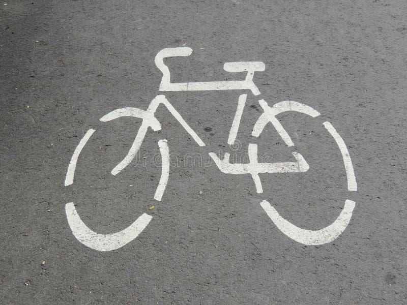 Sinal de estrada da bicicleta imagem de stock