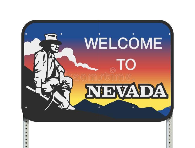 Sinal de estrada da boa vinda de Nevada ilustração stock