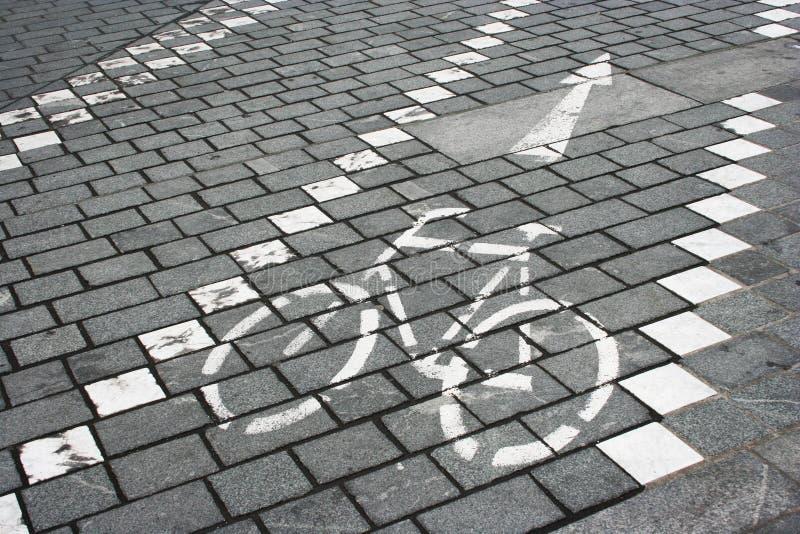 Sinal de estrada da pista de bicicleta fotos de stock royalty free