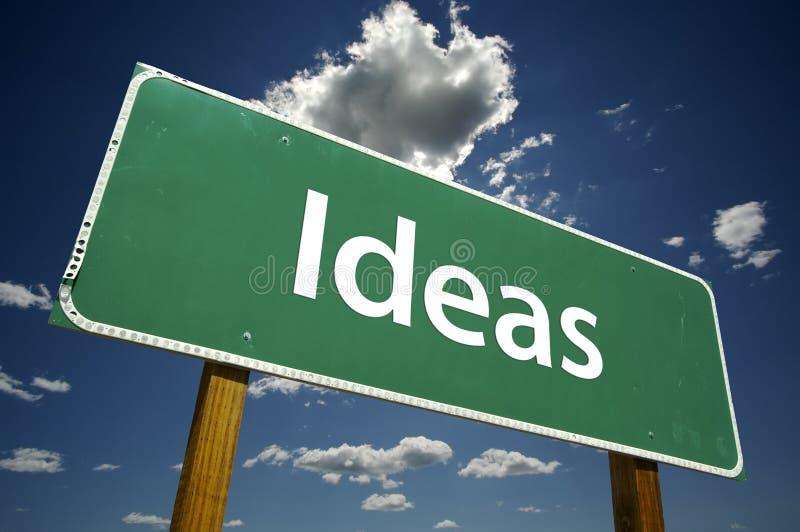 Sinal de estrada das idéias