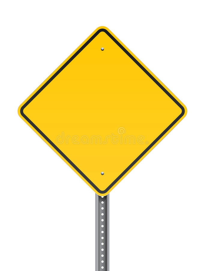 Sinal de estrada de advertência vazio ilustração do vetor