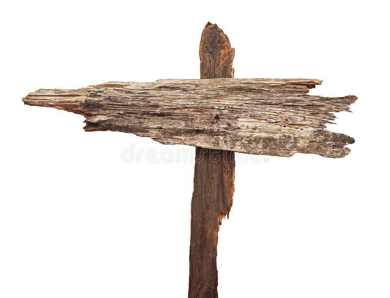 Sinal de estrada de madeira muito velho das setas fotos de stock royalty free