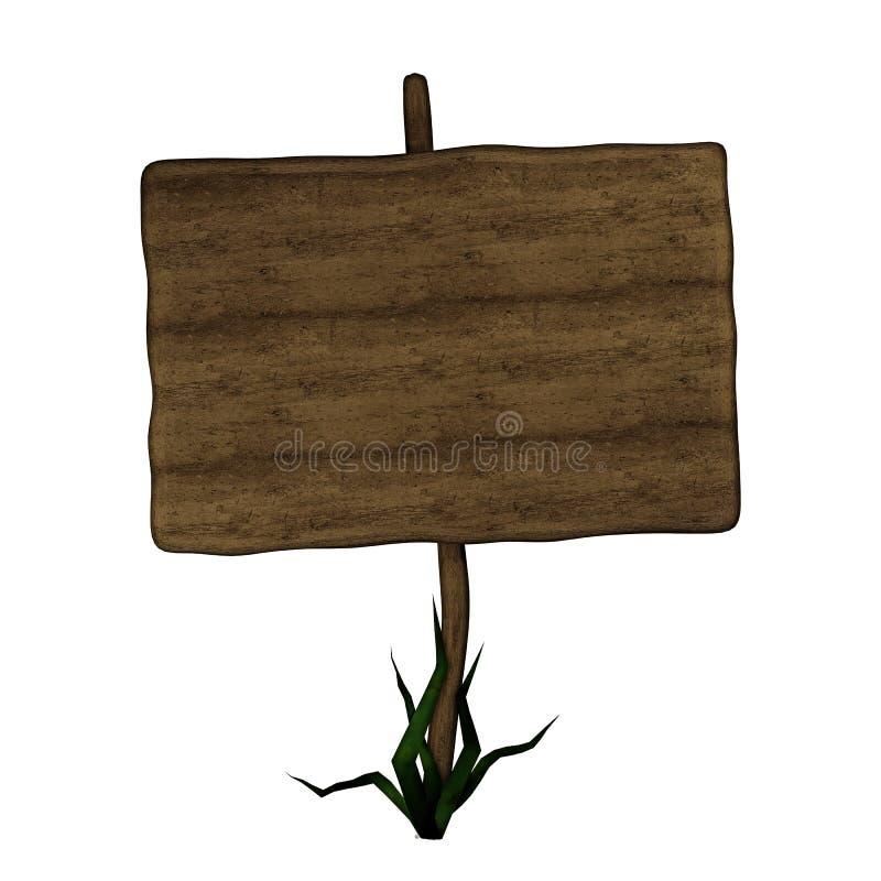 Sinal de estrada de madeira velho ilustração stock