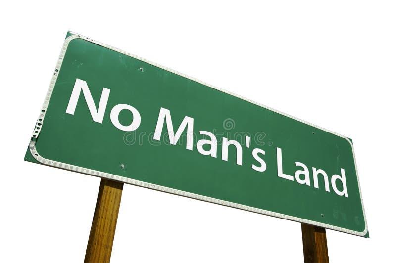 Sinal de estrada de No Man's Land fotos de stock royalty free