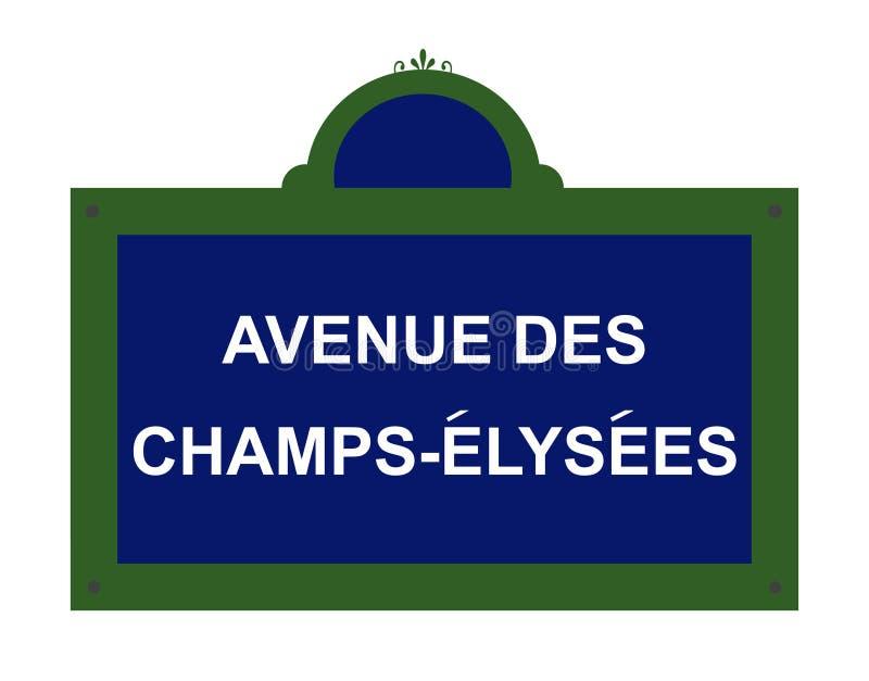 Sinal de estrada de Paris ilustração royalty free