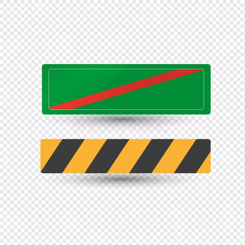 Sinal de estrada do aviso, áreas perigosas da designação, informação do sentido ilustração stock