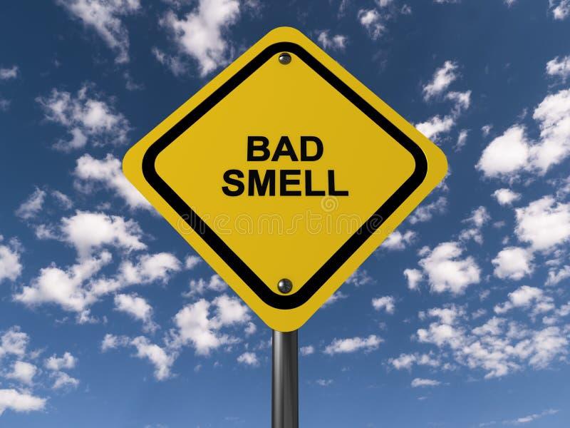 Sinal de estrada do cheiro mau ilustração royalty free