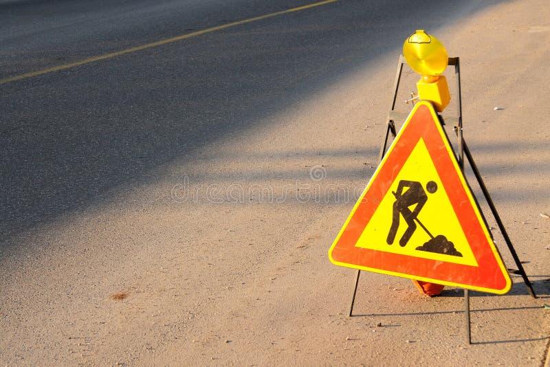 Sinal de estrada do desenvolvimento imagens de stock