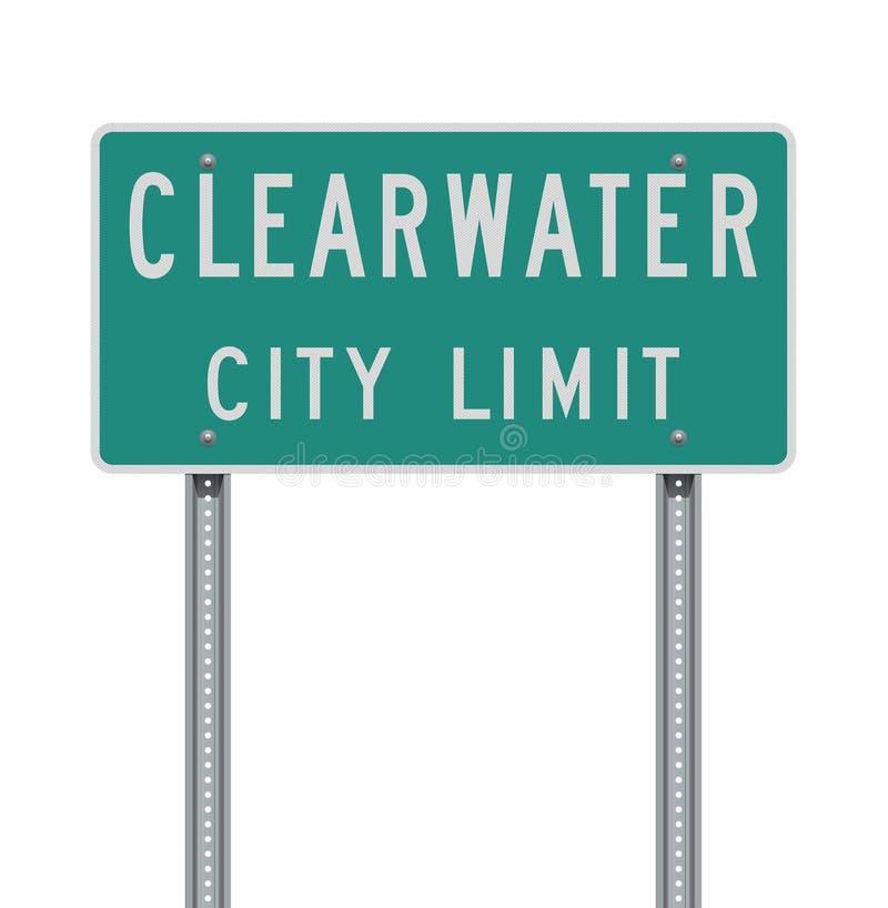 Sinal de estrada do limite de cidade de Clearwater ilustração do vetor